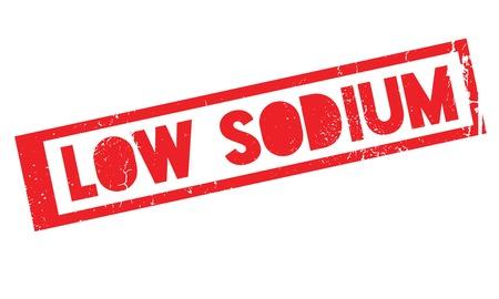 saline: Low Sodium rubber stamp Illustration