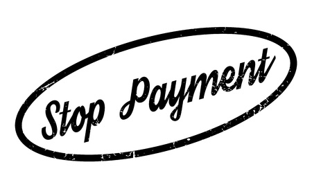Stop Payment rubber stamp Illustration