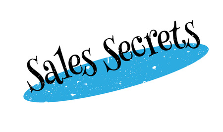 Sales Secrets rubber stamp Illustration
