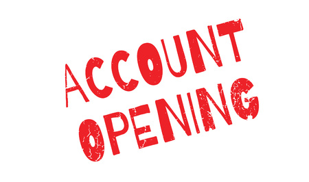 Account Opening rubber stamp