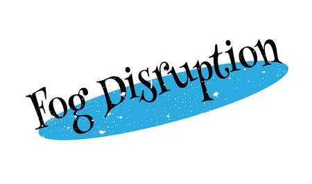 Fog Disruption rubber stamp