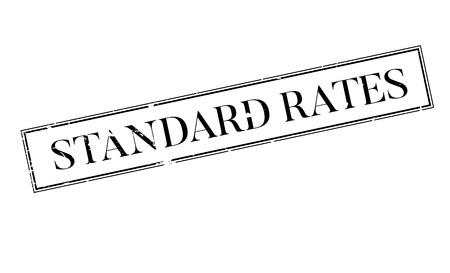quantity: Standard Rates rubber stamp Illustration