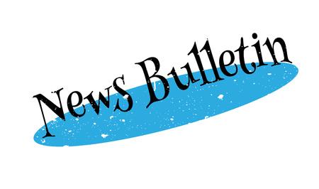 News Bulletin rubber stamp Illustration
