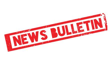 News Bulletin rubber stamp Ilustração