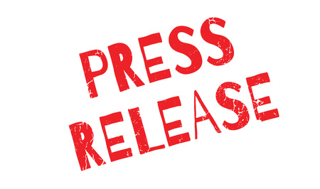 Press Release rubber stamp Illustration