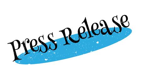 Press Release rubber stamp Ilustrace