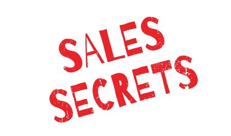Sales Secrets rubber stamp Illustration