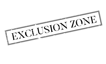 Exclusion Zone rubber stamp Stock Vector - 75869492