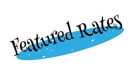 quantity: Featured Rates rubber stamp Illustration
