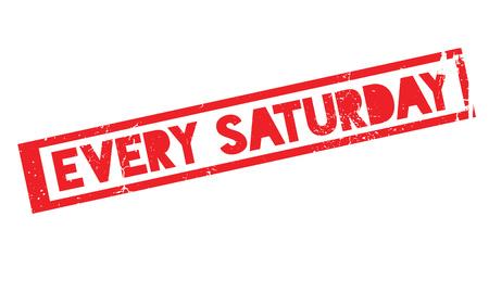 毎土曜日のスタンプのイラスト素材・ベクタ - Image 75869830.