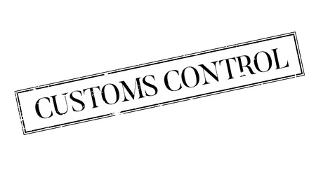 Customs Control rubber stamp
