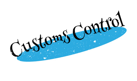 restraint: Customs Control rubber stamp