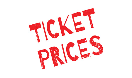 Ticket Prices rubber stamp
