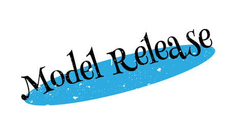 Model Release rubber stamp