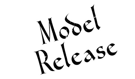 Model Release rubber stamp. Grunge design with dust scratches. Effects can be easily removed for a clean, crisp look. Color is easily changed. Illustration