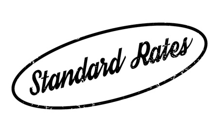 Standard Rates rubber stamp. Grunge design with dust scratches. Effects can be easily removed for a clean, crisp look. Color is easily changed. Illustration