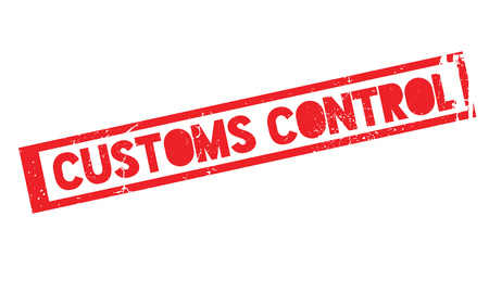Customs Control rubber stamp. Grunge design with dust scratches. Effects can be easily removed for a clean, crisp look. Color is easily changed. Stock Vector - 75869574