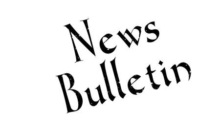 bulletin: News Bulletin rubber stamp Illustration