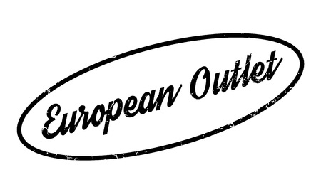 way out: European Outlet rubber stamp Illustration