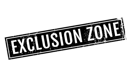 segregated: Exclusion Zone rubber stamp
