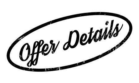 details: Offer Details rubber stamp Illustration