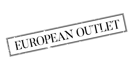European Outlet rubber stamp Vectores