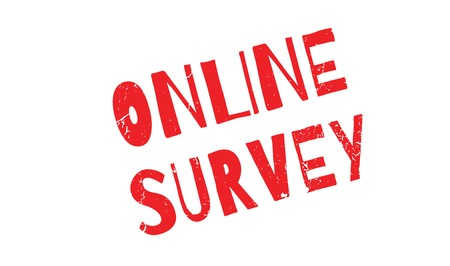 Online Survey rubber stamp