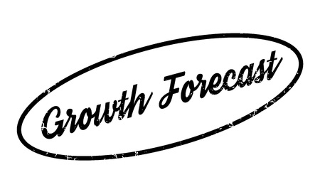 Growth Forecast rubber stamp Illustration