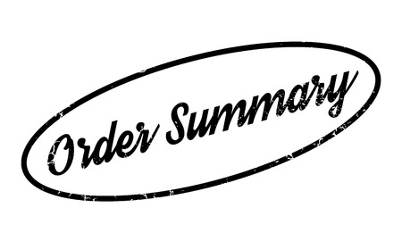 invoices: Order Summary rubber stamp