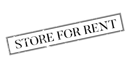 Store For Rent rubber stamp. Grunge design with dust scratches. Effects can be easily removed for a clean, crisp look. Color is easily changed. 向量圖像