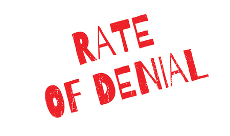 denying: Rate Of Denial rubber stamp. Grunge design with dust scratches. Effects can be easily removed for a clean, crisp look. Color is easily changed.