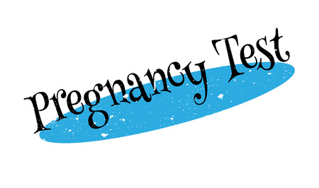 fertility emblem: Pregnancy Test rubber stamp. Grunge design with dust scratches. Effects can be easily removed for a clean, crisp look. Color is easily changed.