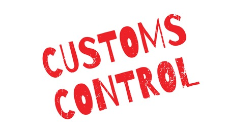 Customs Control rubber stamp. Grunge design with dust scratches. Effects can be easily removed for a clean, crisp look. Color is easily changed.