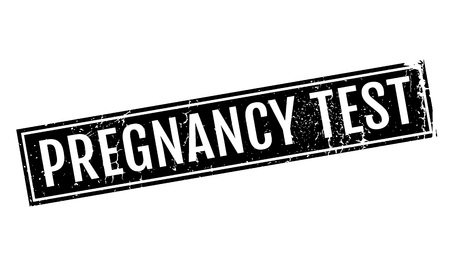 germinate: Pregnancy Test rubber stamp. Grunge design with dust scratches. Effects can be easily removed for a clean, crisp look. Color is easily changed.