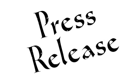 Press Release rubber stamp. Grunge design with dust scratches. Effects can be easily removed for a clean, crisp look. Color is easily changed. Illustration