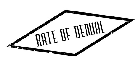 denial: Rate Of Denial rubber stamp. Grunge design with dust scratches. Effects can be easily removed for a clean, crisp look. Color is easily changed.