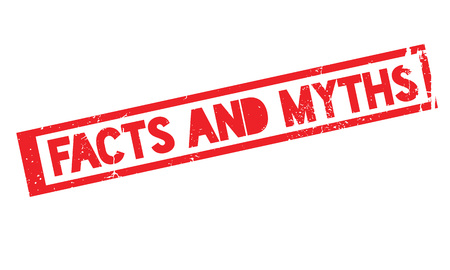 Facts And Myths rubber stamp. Grunge design with dust scratches. Effects can be easily removed for a clean, crisp look. Color is easily changed.
