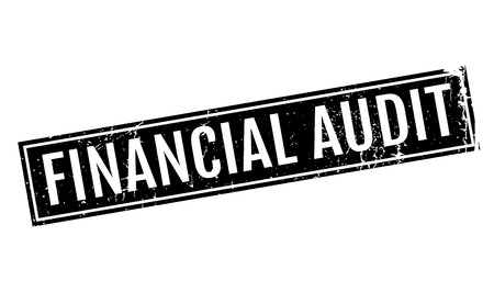 Financial Audit rubber stamp. Grunge design with dust scratches. Effects can be easily removed for a clean, crisp look. Color is easily changed. Illustration