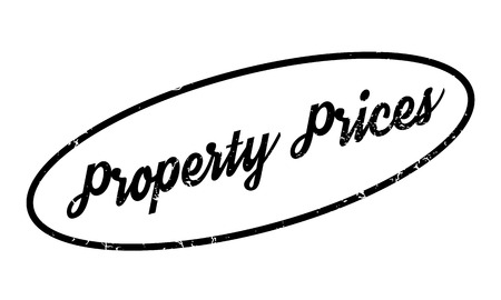ownership equity: Property Prices rubber stamp. Grunge design with dust scratches. Effects can be easily removed for a clean, crisp look. Color is easily changed.