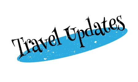 cancellation: Travel Updates rubber stamp. Grunge design with dust scratches. Effects can be easily removed for a clean, crisp look. Color is easily changed.