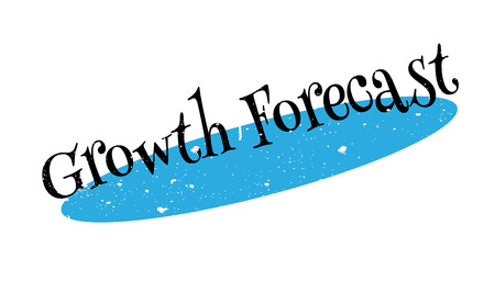prediction: Growth Forecast rubber stamp. Grunge design with dust scratches. Effects can be easily removed for a clean, crisp look. Color is easily changed.