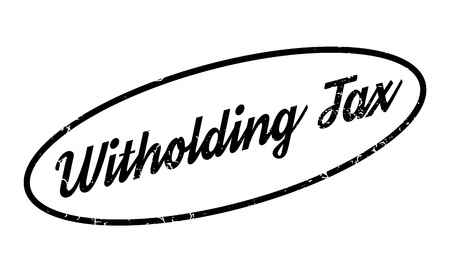 Witholding Tax rubber stamp. Grunge design with dust scratches. Effects can be easily removed for a clean, crisp look. Color is easily changed. Stock Photo