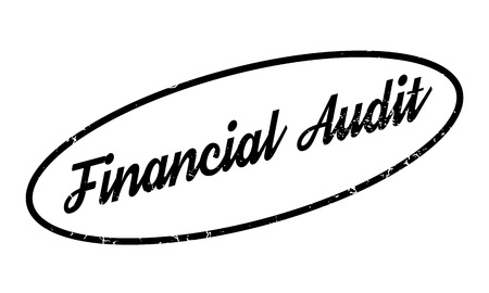 Financial Audit rubber stamp. Grunge design with dust scratches. Effects can be easily removed for a clean, crisp look. Color is easily changed. Stock Photo