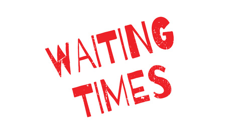 standby: Waiting Times rubber stamp. Grunge design with dust scratches. Effects can be easily removed for a clean, crisp look. Color is easily changed.