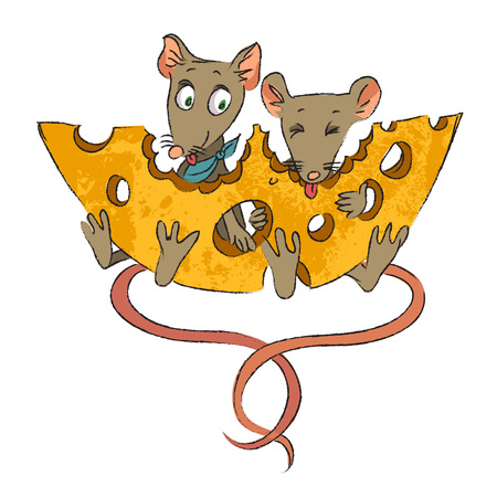 mouse: Cartoon image of mice with cheese