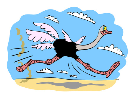 Cartoon image of ostrich