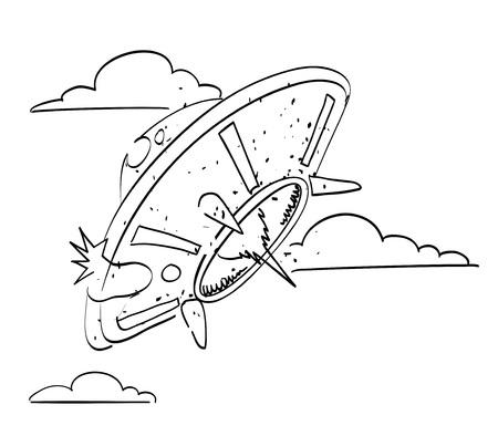 空飛ぶ円盤の漫画画像