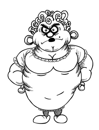 Cartoon image of annoyed woman
