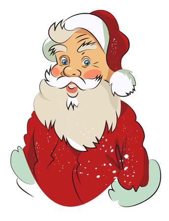 Imagen de la historieta de Papá Noel sorprendido. Una imagen artística a mano alzada. Foto de archivo - 76992126