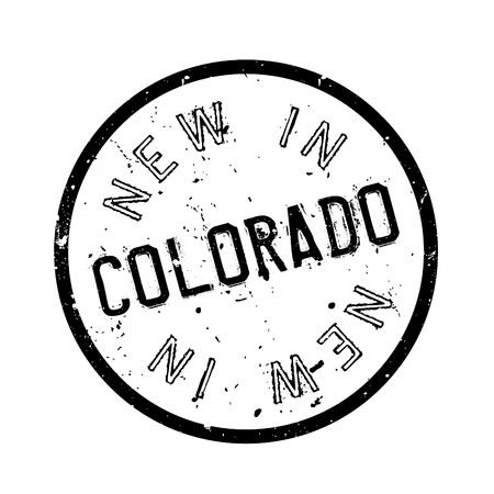 colorado springs: New In Colorado rubber stamp